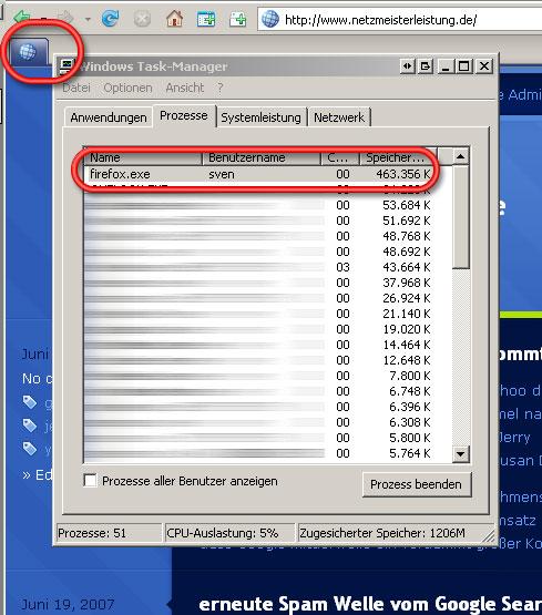 Firefox Speicherprobleme